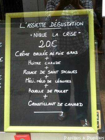Assiette Nique la Crise