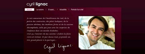 site de Cyril Lignac