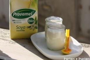 Yaourts au lait de soja vanillé