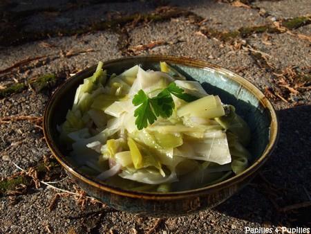Poireaux en salade - Salade de poireaux