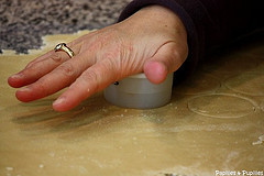 découpe de pâte à tarte