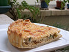 Quiche courgettes, cumin, mozzarella