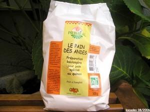 Préparation boulangère pou pain des Andes