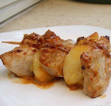 Brochettes de veau aux pommes
