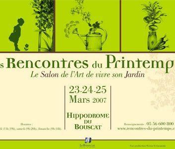 Les rencontres du printemps – Bordeaux/Le Bouscat : 23/24/25 mars 2007