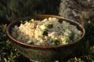 Céréales gourmandes aux dés de courgettes