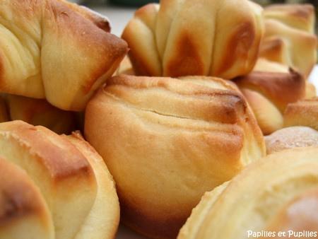 Petits pains briochés au jus d