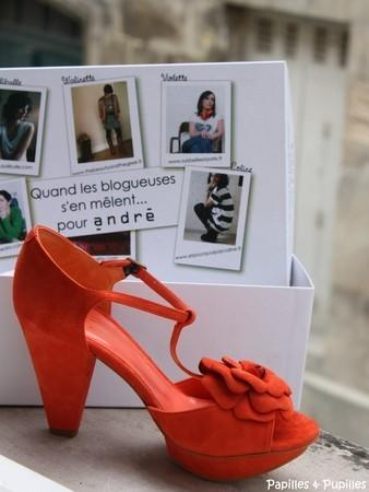 Chaussures Violettes oranges