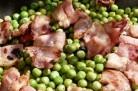 Petits pois au beurre et bacon croustillant façon Jamie Oliver