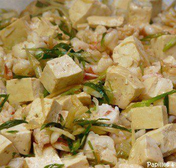 Tofu aux crevettes