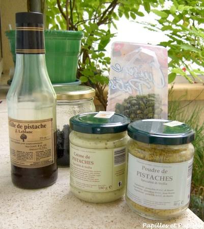 Produits à base de pistaches