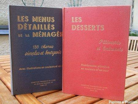 Livres de cuisine anciens