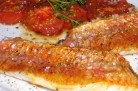Filets de rougets aux tomates confites