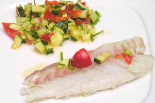 Filet de poisson sauce fraîcheur