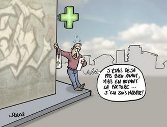 dessin humoristique malade