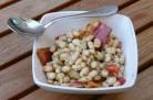 Salade de haricots blancs et ventrèche grillé