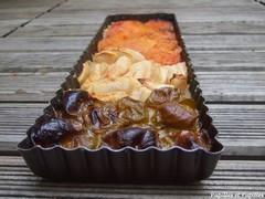 Tarte prunes, pommes et abricots