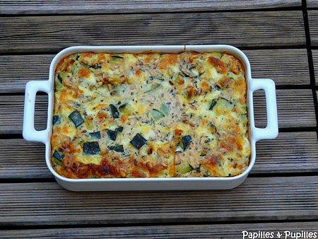 Gratin de courgettes à la mozzarella, à la menthe et aux pignons de pin