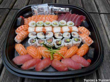 Plateau de sushis et makis