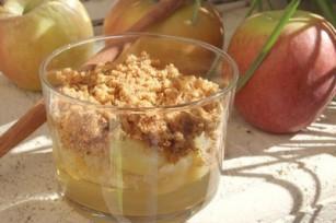 Verrine de pommes au pain d'épices à l'agar-agar