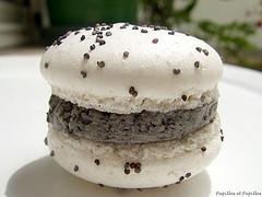 Macarons ganache au sésame noir - Mercotte