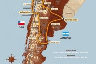 Carte d'amérique du sud