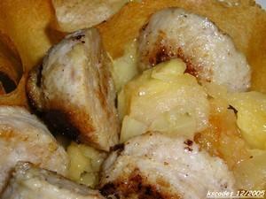 Boudin blanc aux pommes en corolles de bricks
