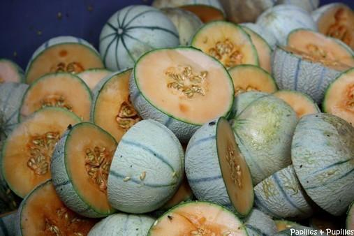 melons fendus en deux