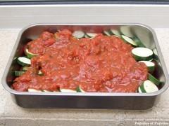Image Papilles et Pupilles - Gratin de tomates et courgettes, sauce tomate