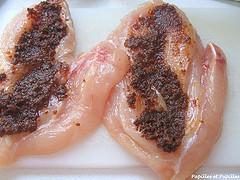 Escalopes de poulet aux deux tomates