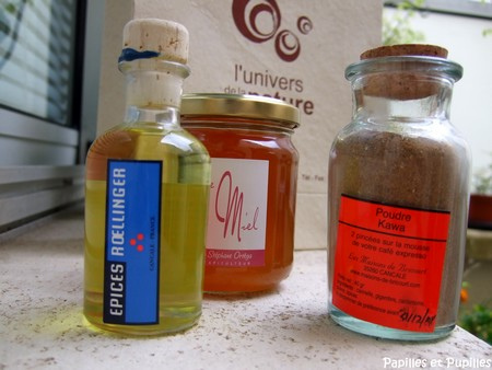 huile de cumbavas, poudre kawa et miel