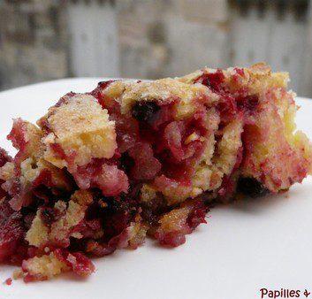 Gâteau croustifondant aux cranberries