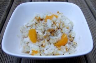 Salade de flétan aux agrumes et à l'huile vanillée
