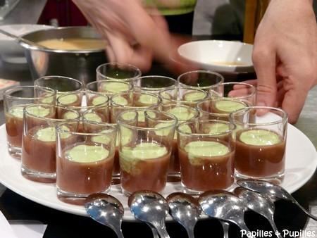 Velouté de betterave et mayonnaise végétale persillée