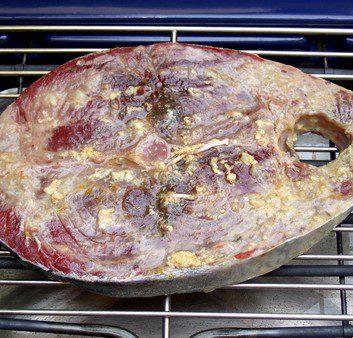 Thon rouge mariné grillé