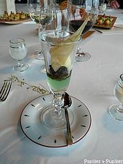 Gelée de verveine et lentilles vertes du Puy confites, soufflé Nutella cèpes