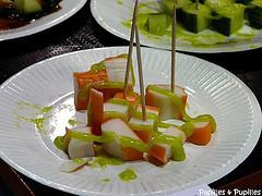 surimi avec sauce wasabi