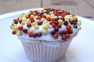 Cupcakes au café et aux perles de chocolat