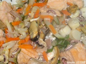 Cassolettes gratinées de Saint Jacques, crevettes et saumon - A vos Casseroles # 2