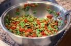Salade de fèves et poivrons