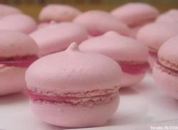 macarons framboise chocolat