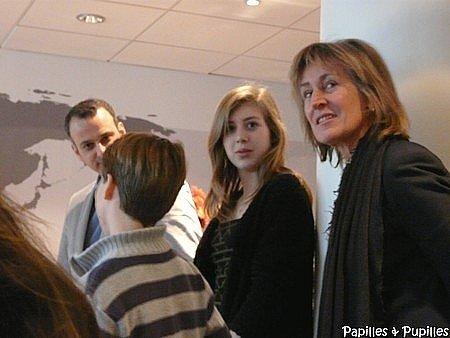 Dominique Poussier - Carla Ferrari - Jean de Vivie - et de dos Grégoire Souverain