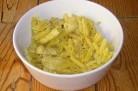 Pâtes aux rubans de courgettes et poulet au curry