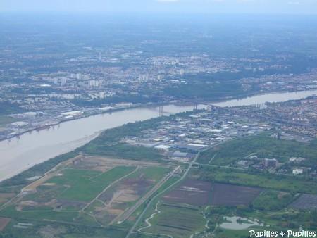 Vue aérienne de Bordeaux