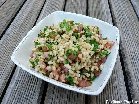 Salade de blé façon taboulé