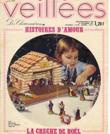 La crèche de Noël réalisée en petits gâteaux secs