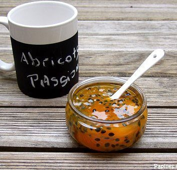 Confiture d'abricots aux fruits de la passion et à l'agar agar