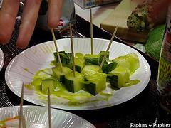 concombre avec sauce wasabi