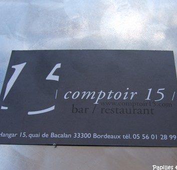 Le comptoir 15 – Bordeaux