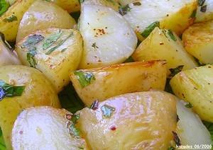 Pommes de terre de Noirmoutier à la menthe et au citron